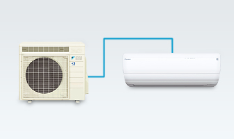 Daikin single zone mini splits are perfect for rooms that are never quite warm or cool enough!