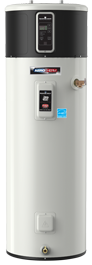 Heat Pump water heaters are efficient water heating systems that reduce humidity and excess heat from the rooms they are in!